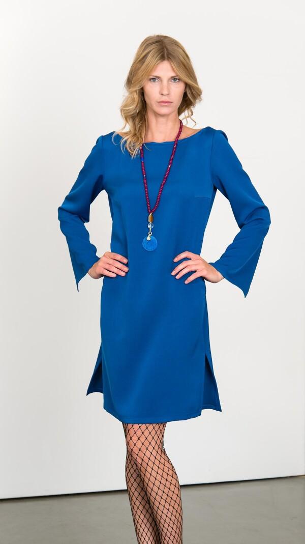 Elegant dress with slit sleeves | L - GABRIELLE