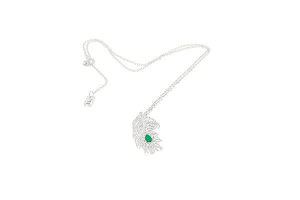 Necklace Small Peacock Silver | HLC Jewellery