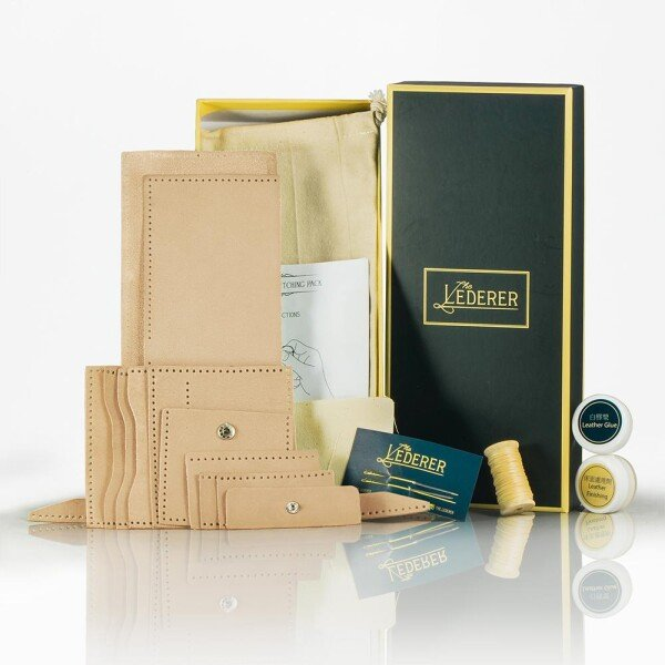 Coins Short Wallet - Leather Stitching Pack | The Lederer