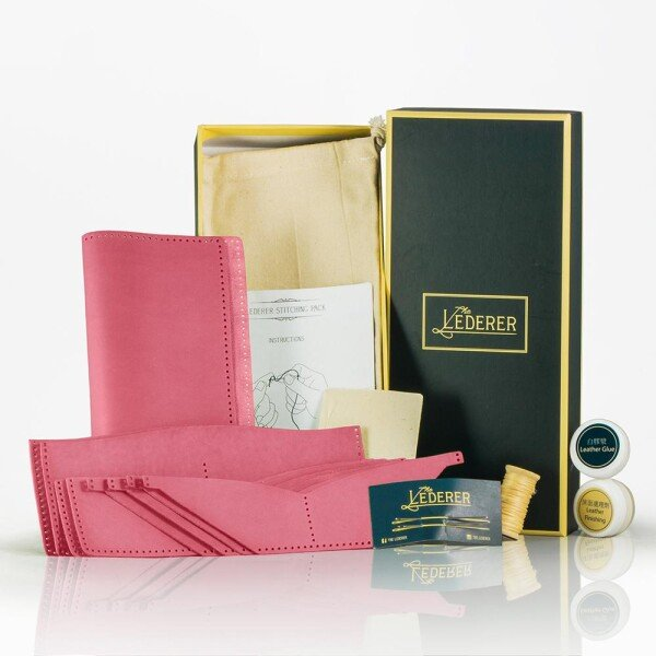 12-Card Long Wallet - Lady - Leather Stitching Pack | The Lederer