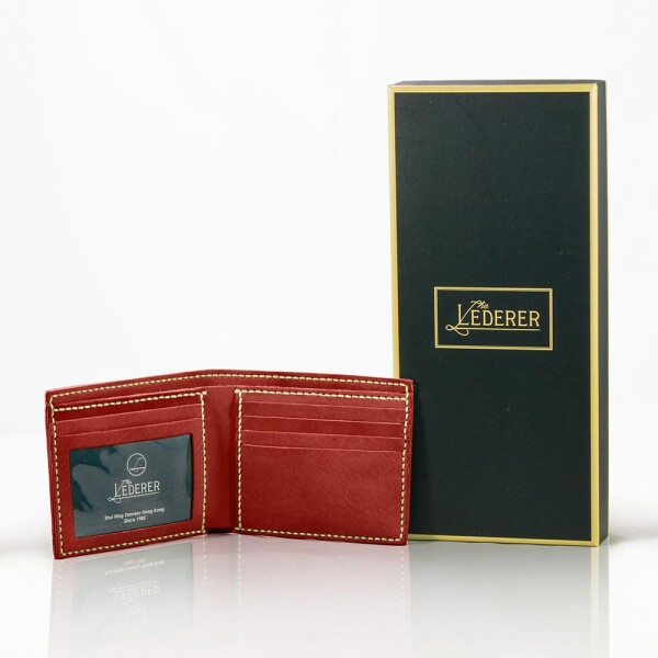 5-Card Photo Short Wallet - Leather Stitching Pack | The Lederer
