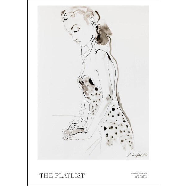 THE PLAYLIST - Limited and signed art print | Atelier Nadine Kulis