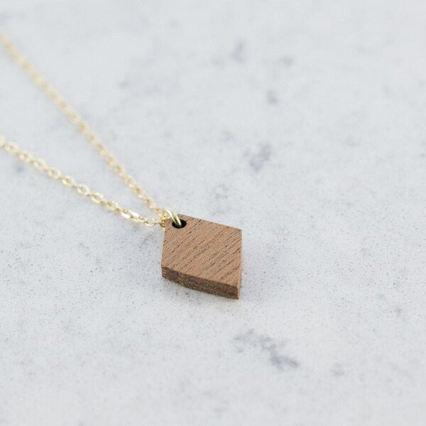 sapele DIAMOND NECKLACE | Debosc