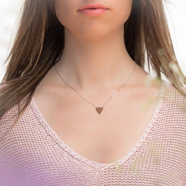 Sapele TRIANGLE NECKLACE | Debosc