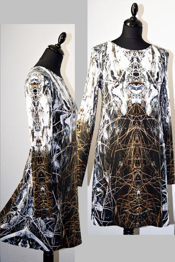 brown-white longshirt with own fabric print QUELARA_77 | MOLOTOW