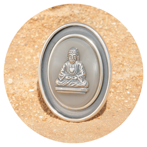 artjany Buddha Ring gray silver | artjany - Kunstjuwelen