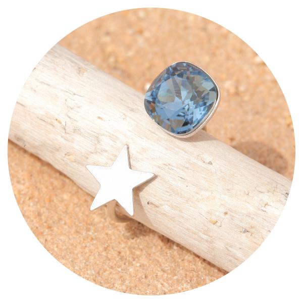 artjany ring denim blue silver | artjany - Kunstjuwelen
