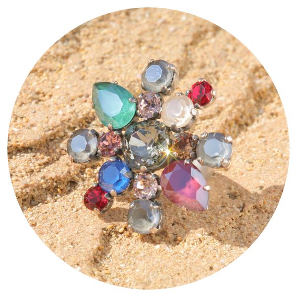 artjany Statementring colorful opaque mix | artjany - Kunstjuwelen