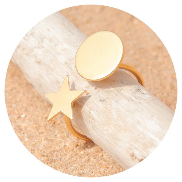 Artjany ring star & sun gold | artjany - Kunstjuwelen