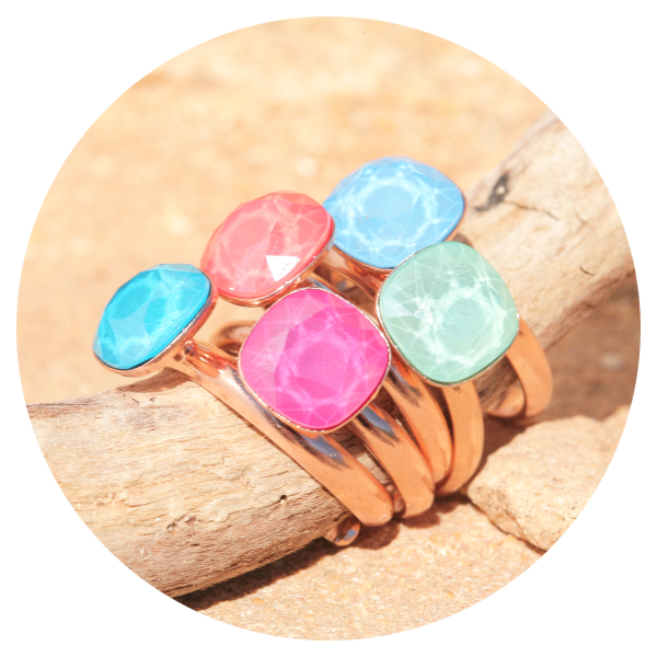 Artjany ring light coral rose gold | artjany - Kunstjuwelen