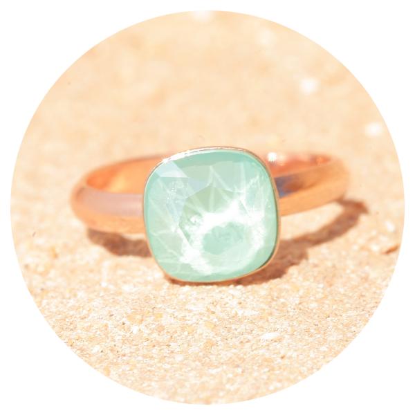 artjany ring mint green rose gold | artjany - Kunstjuwelen