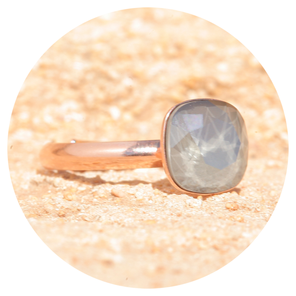 artjany ring royal gray rose gold | artjany - Kunstjuwelen