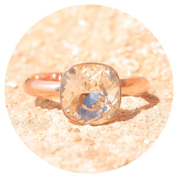 artjany ring silk rose gold | artjany - Kunstjuwelen