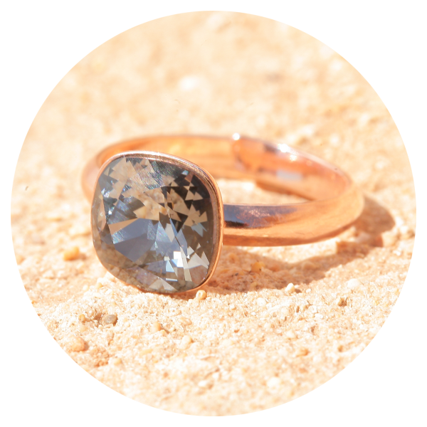 artjany ring silvernight rose gold | artjany - Kunstjuwelen