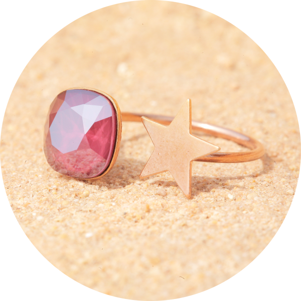 Artjany Ring royal dark red rose gold | artjany - Kunstjuwelen