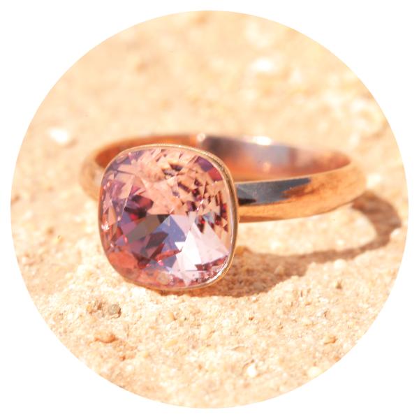 artjany ring vintage rose rose gold | artjany - Kunstjuwelen