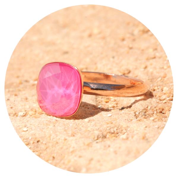artjany ring pink peony | artjany - Kunstjuwelen