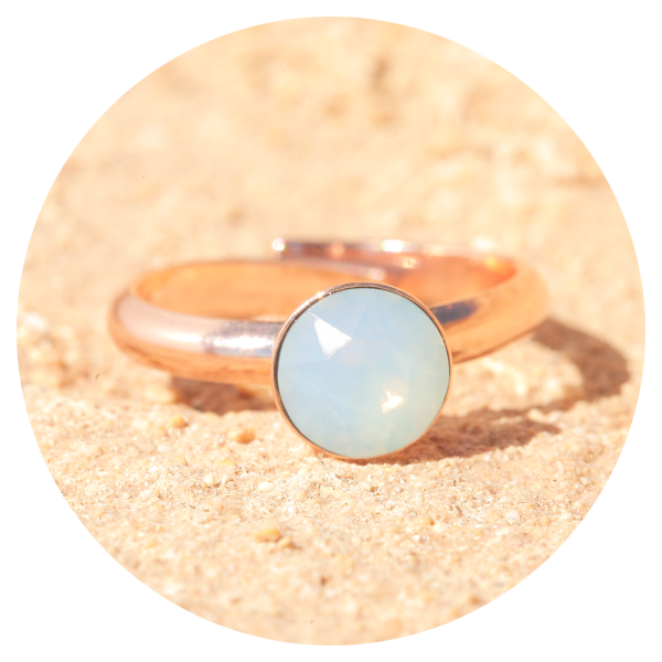 artjany Ring air opal rose gold | artjany - Kunstjuwelen