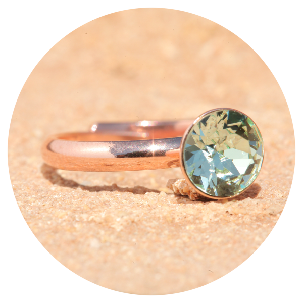 artjany ring crysolite rose gold | artjany - Kunstjuwelen