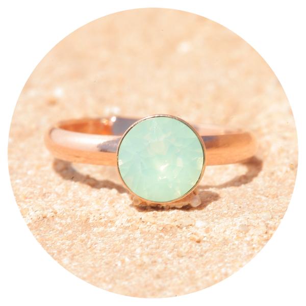 artjany ring crysolite opal rose gold | artjany - Kunstjuwelen
