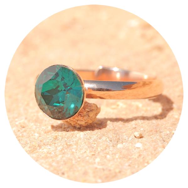 artjany ring emerald rose gold | artjany - Kunstjuwelen