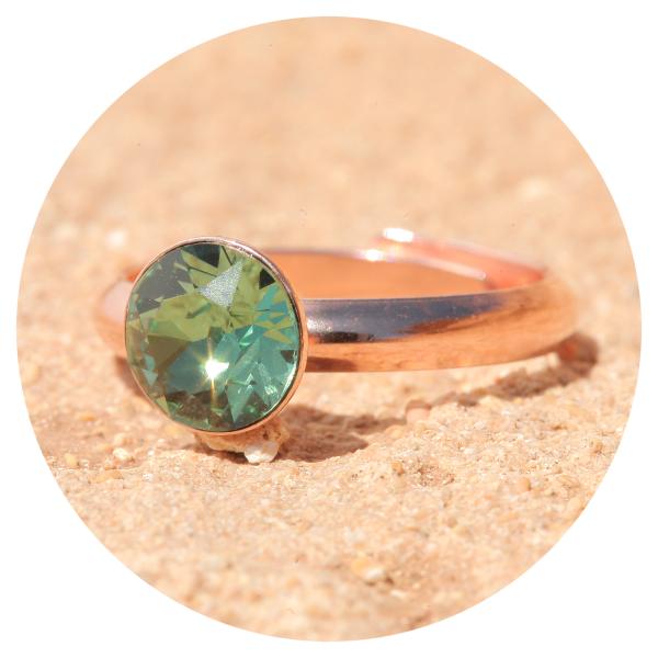 artjany ring erinite rose gold | artjany - Kunstjuwelen