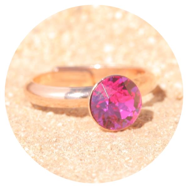 artjany ring fuchsia rose gold | artjany - Kunstjuwelen