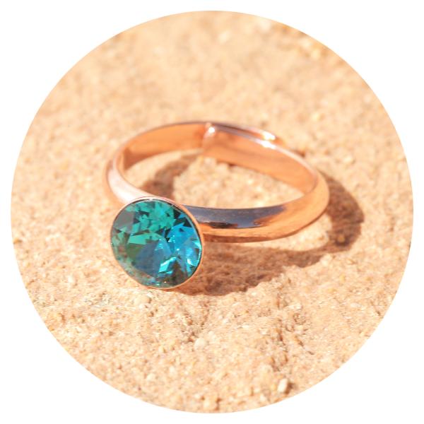 artjany ring indicolite rose gold | artjany - Kunstjuwelen