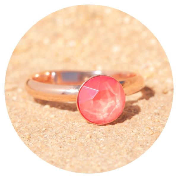 artjany Ring light coral rose gold | artjany - Kunstjuwelen