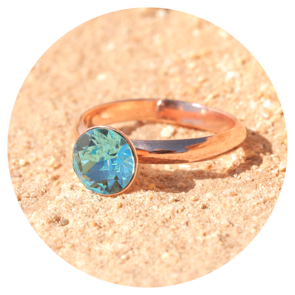 artjany Ring light turquoise rose gold | artjany - Kunstjuwelen