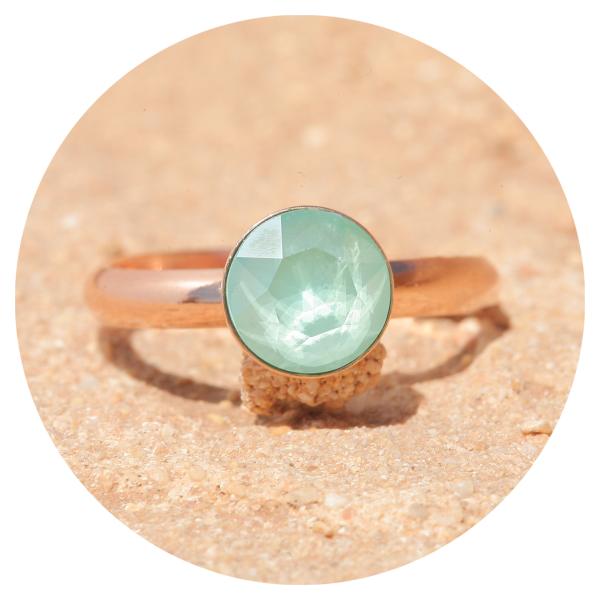 artjany ring mint green rosegold | artjany - Kunstjuwelen