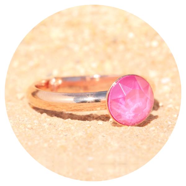 artjany ring peony pink rose gold | artjany - Kunstjuwelen