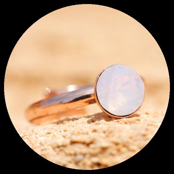 artjany Ring rose water opal rose gold | artjany - Kunstjuwelen