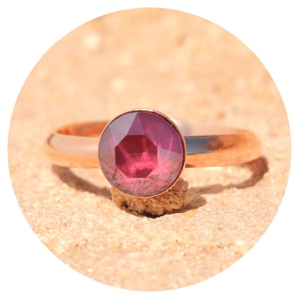 artjany Ring royal dark red rose gold | artjany - Kunstjuwelen