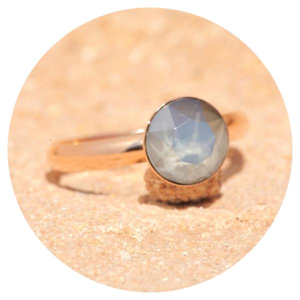 artjany ring royal gray rose gold | artjany - Kunstjuwelen