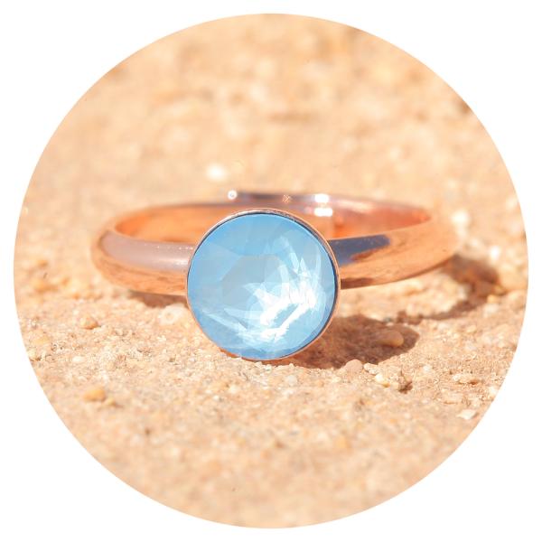 artjany ring summer blue rose gold | artjany - Kunstjuwelen