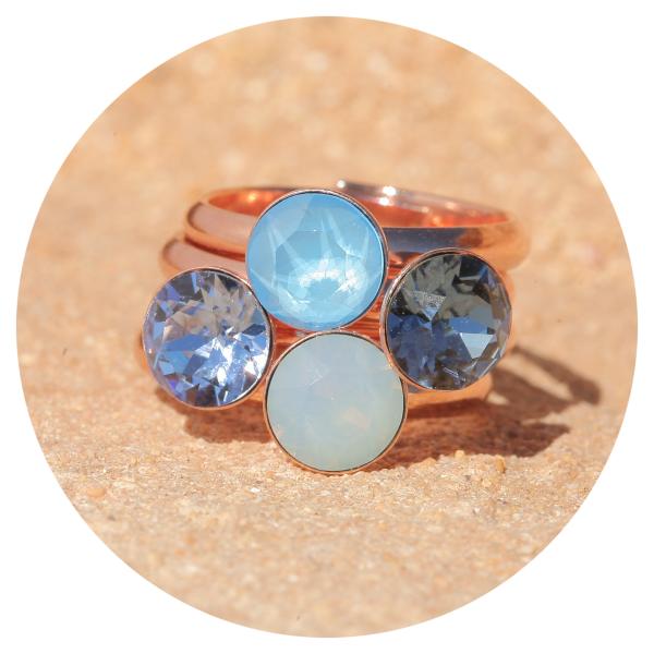artjany ring denim blue rosegold | artjany - Kunstjuwelen