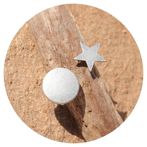 Artjany ring star & sun silver | artjany - Kunstjuwelen