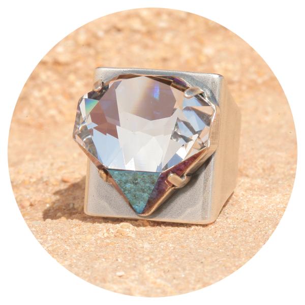 artjany ring crystal bermuda siber | artjany - Kunstjuwelen