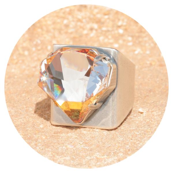 artjany ring crystal copper | artjany - Kunstjuwelen