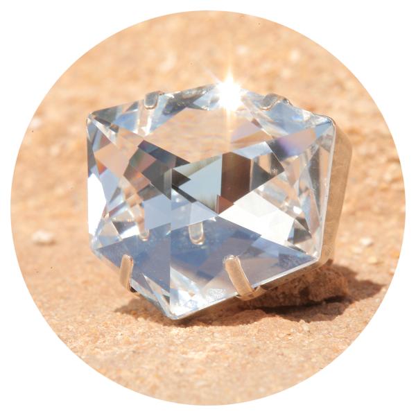 artjany ring illusion crystal silver | artjany - Kunstjuwelen