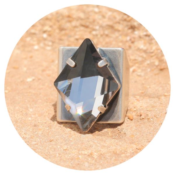 Artjany ring spike moroda silver | artjany - Kunstjuwelen