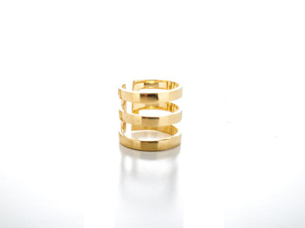 Ring 3 Stripes Gold | HLC Jewellery