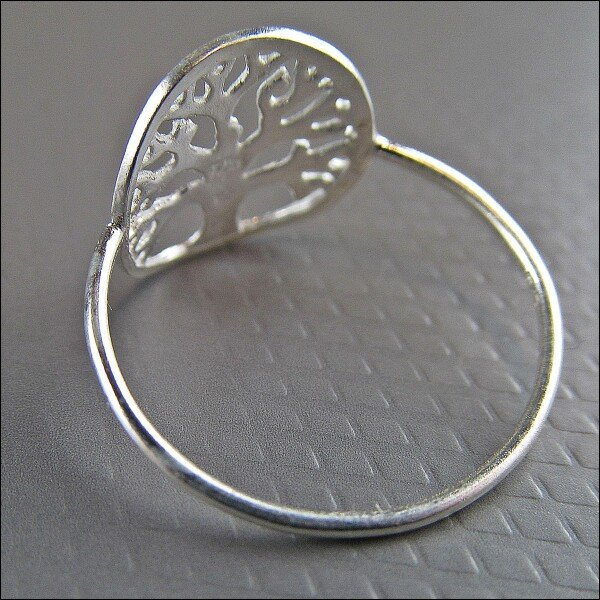 925 silver ring with tree of life motif | Carol and Me