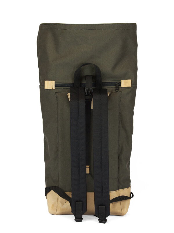 Waterproof Backpack Canvas Khaki BRAASI Industry | FashionShop PARAZIT