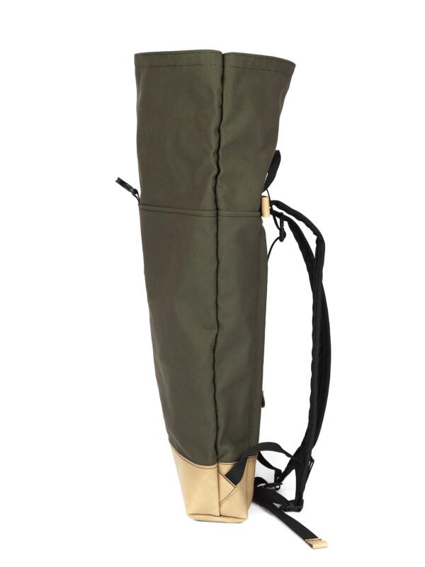Waterproof Backpack Canvas Khaki BRAASI Industry | FashionShop PARAZIT