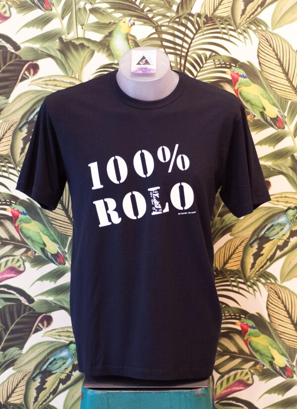 100% Rolo - Cotton T-shirt UNISEX - Black / Black | Bizar_Cologne