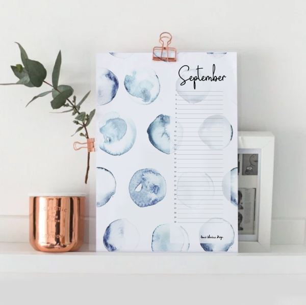 BIRTHDAY CALENDAR - PERPETUAL - WATERCOLOR | Annet Weelink Design