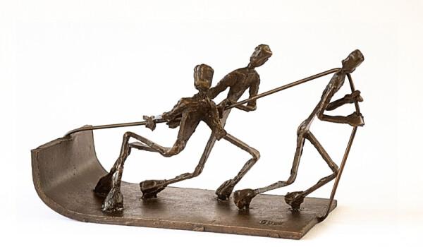 Gustav Duden - sleigh sculpture | HS Kunst-Galerie