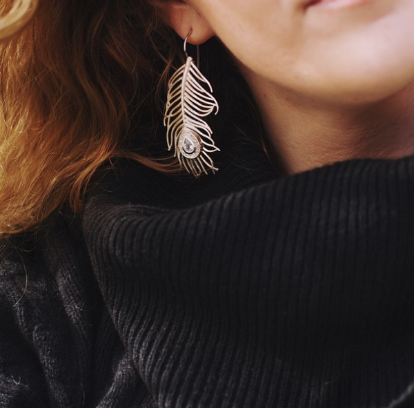 Individual Earring Peacock XL Silver | HLC Jewellery